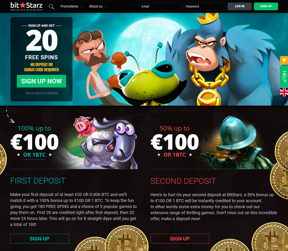 New bitcoin casino sign up bonus no deposit