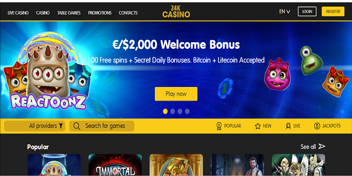 New bitcoin casino downtown